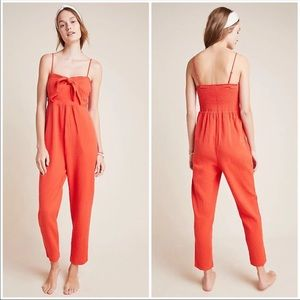 Anthropologie Tie Front Jumpsuit NWT